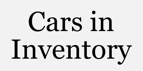 Cars In Inventory